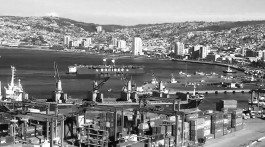 Port of Valparaíso in Chile
