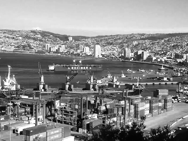 Port Valparaiso w Chile